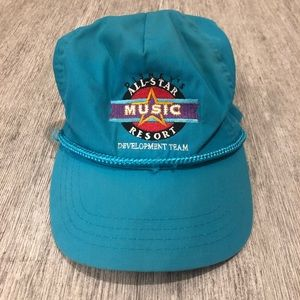 Disney all Star music resort trucker hat vtg blue